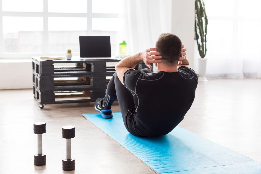 Exercise doesn't need to be complex. You can do a simple home workout at anytime of the day without hard to get equipment.